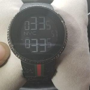 Black Daimond digital Gucci watch
